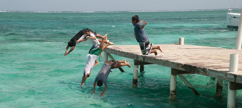 Island Children Jumping
