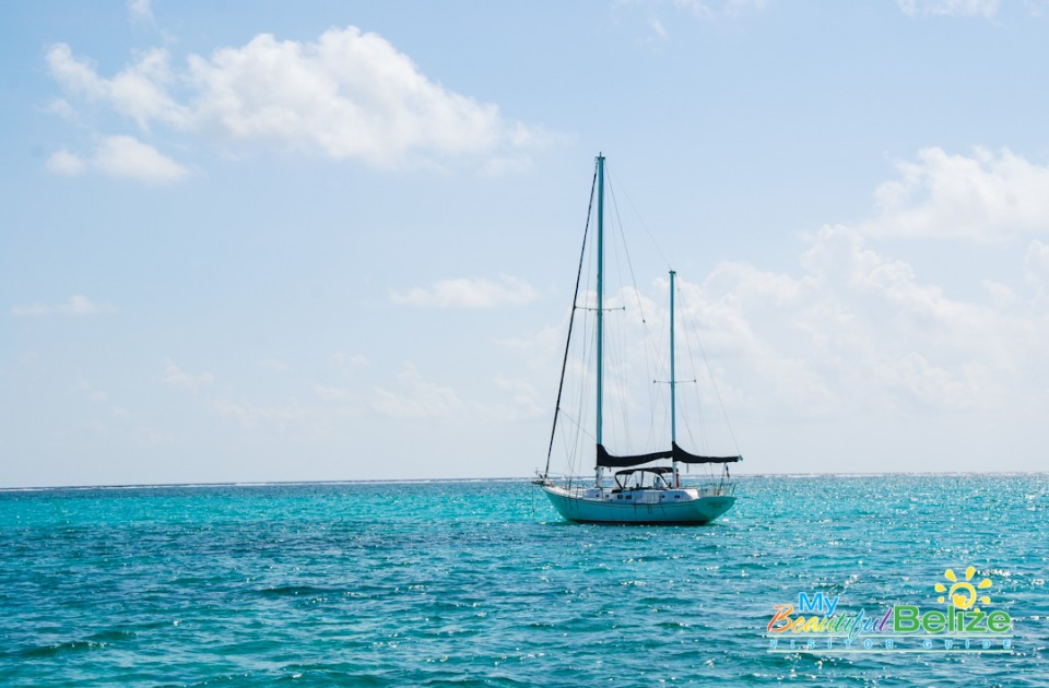 Sailing Ambergris Caye Catamaran Belize Caribbean-1