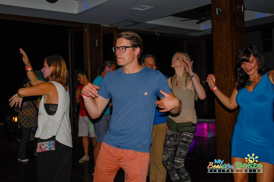 Party goers danced all night!