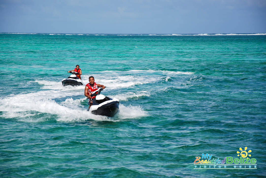 Crashing Through The Waves On A Jet Ski From Castaway My Beautiful Belize