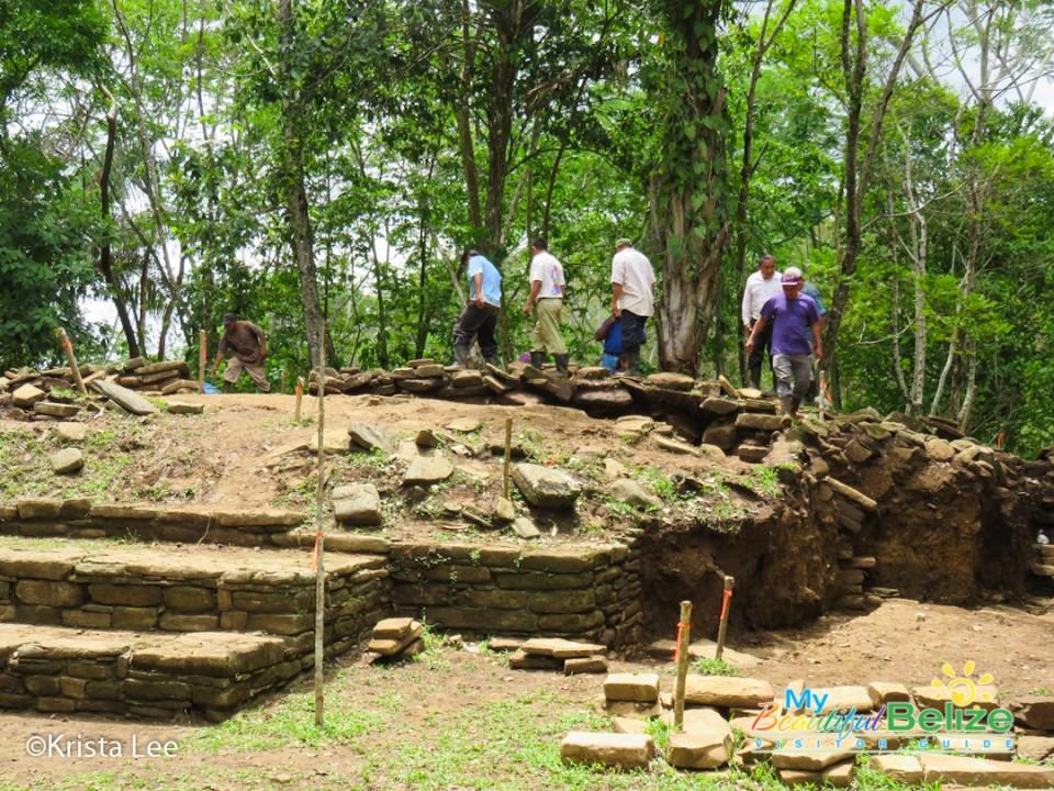 Archaeologist exploring Nim Li Punit Archaeological Site