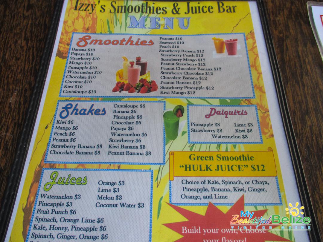 Izzy's Smoothie & Juice Bar - My Beautiful Belize
