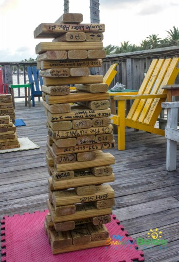 Playing Jenga at Palapa Bar-2