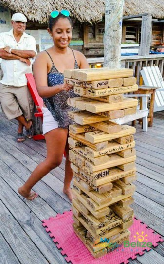 Playing Jenga at Palapa Bar-6