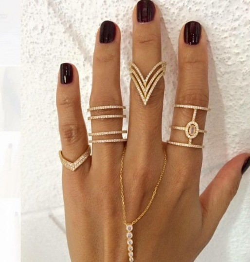 Fingers Draped Jewelry