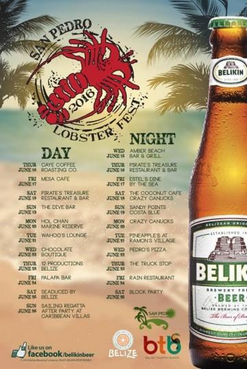 Lobster Fest Calender