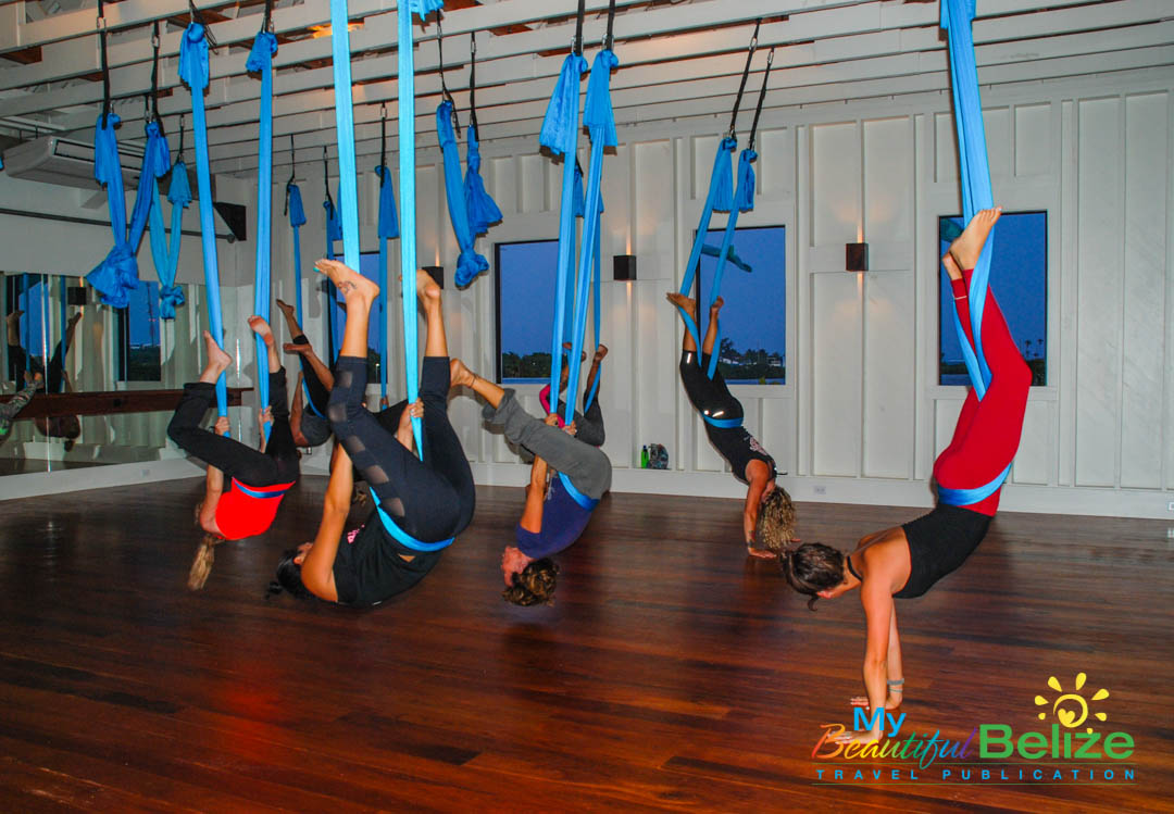 Aerial Yoga, one of the many amenities at Science and Soul ...