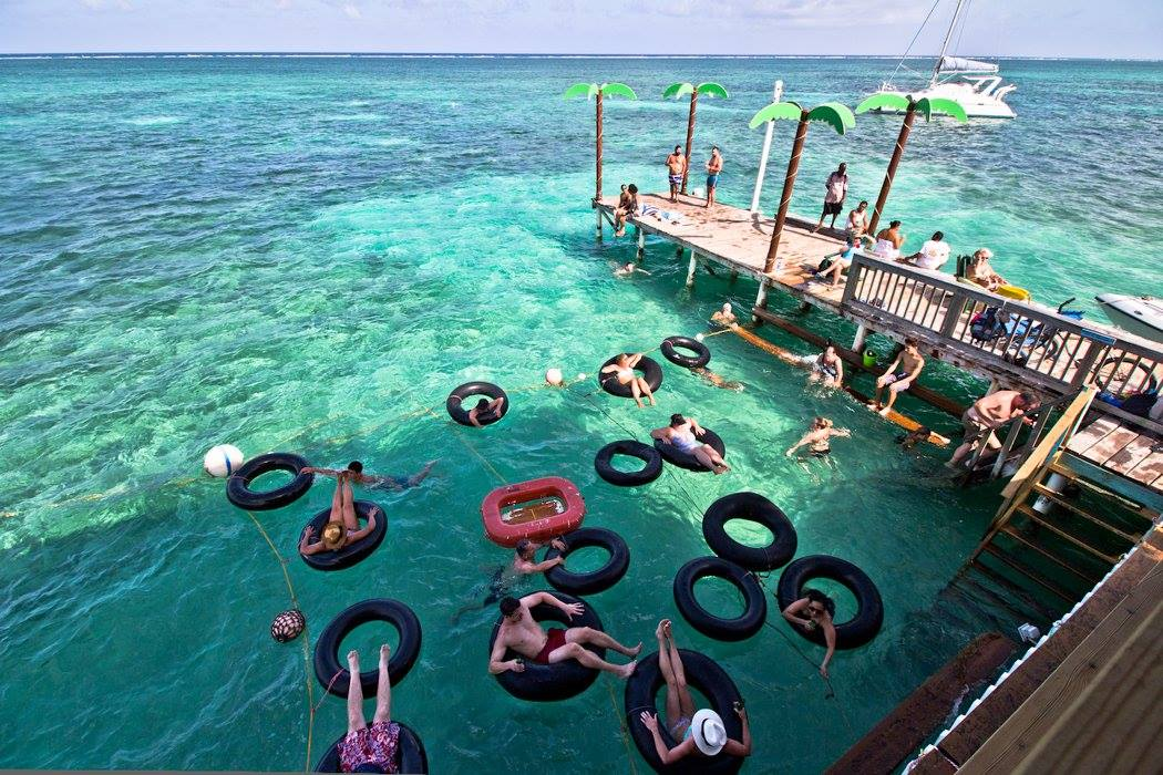 Floating Tubes Palapa Bar Belize