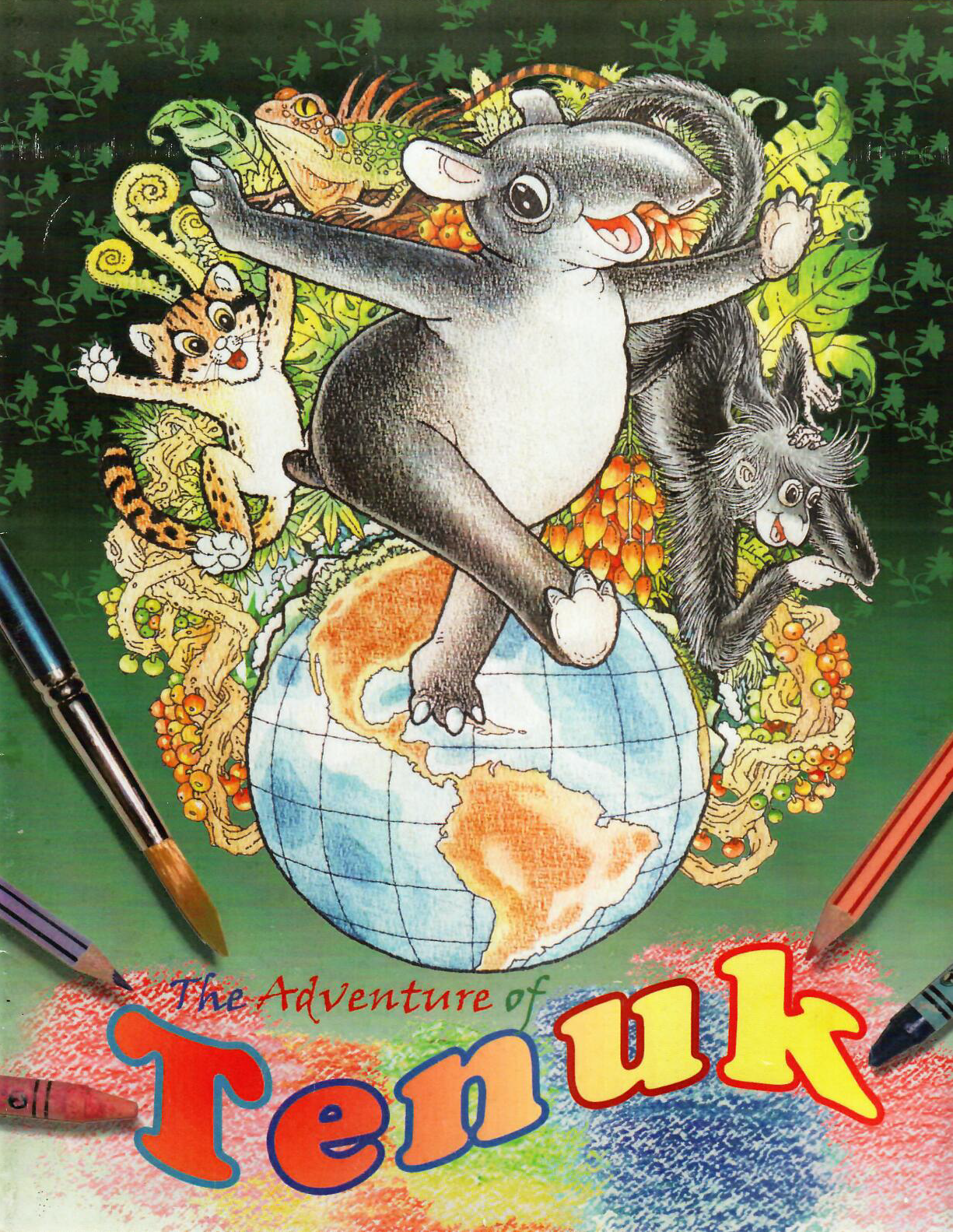 The Story Book Adventure Of Tenuk Duplicates As A Colouring It Has An Attractive Bright Coloured Cover With Brilliant Accurate And Compelling